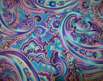 Paisley Digitaldruck Stoff Seide Blend Dressmaking Stoff Handwerk von 1 Mtr