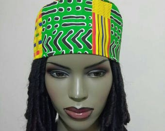 776fb2e38b29f Kente tribal print Unisex Kufi hat African hat  Kufi African Hat  African  Hats and accessories
