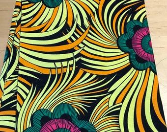 Floral African fabric per yard, Ankara design cotton print fabric /Sewing Supplies