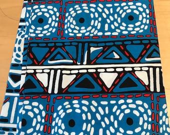 Blue African Angolan print fabric/cotton print/ African fabric supplies/ African clothing/ African fabric shop