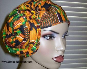 Kente #2 African head wrap fabric, Head Scarf Fabric, Regular size/ DIY Head Wrap fabric/ African head wraps/ African hair accessory fabric