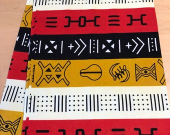 Tribal Mud Cloth Inspired Fabric By the Yard and wholesale/ Fabric from Mali Africa/ Earth tones African prints