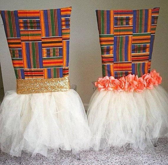 ThemeEtsy For Weddings Kente Afrocentric Cover Chair African R4Aj5L