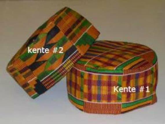 """GRANDE STAMPA AFRICANA Unisex KENTE Kufi Hat circonferenza 24/"""" 25/"""""""