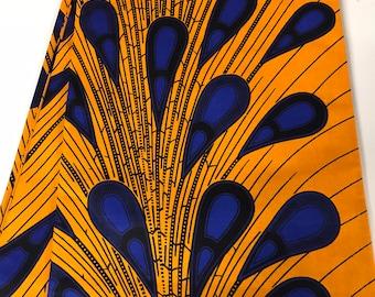 Osun Peacock Ankara African fabric per yard and wholesale/ African Fabrics/ African Trendy fashion fabrics/ African textiles/ African Prints
