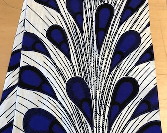 Blue And White Peacock Ankara print African fabric per yard/ African Trendy fashion fabrics/ African textiles/ African Prints