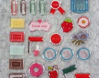 Mixed Cute PVC Super Label Stickers
