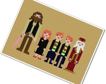 Harry's Friends - The *Original* Pixel People - PDF Cross Stitch Pattern - INSTANT DOWNLOAD