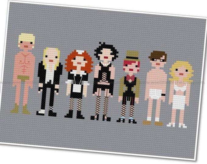 Featured listing image: The Rocky Horror Picture Show - The *Original* Pixel People - PDF Cross-stitch Pattern - Instant Download