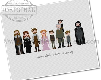 Game of Thrones - House Stark - The *Original* Pixel People - PDF Cross stitch Pattern - INSTANT DOWNLOAD