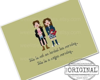 Gilmore Girls - The *Original* Pixel People - PDF Cross-stitch Pattern - INSTANT DOWNLOAD