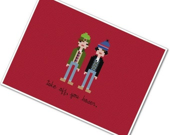 Bob & Doug McKenzie - The *Original* Pixel People - PDF Cross-stitch Pattern - INSTANT DOWNLOAD