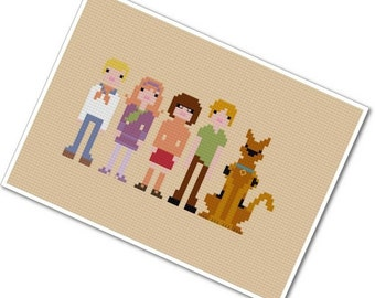 Scooby Doo, Where Are You - The *Original* Pixel People - PDF Cross Stitch Pattern - INSTANT DOWNLOAD