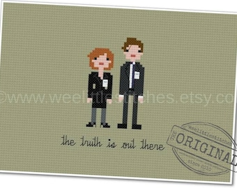 The X-Files - The *Original* Pixel People - PDF Cross-stitch PATTERN - Instant Download