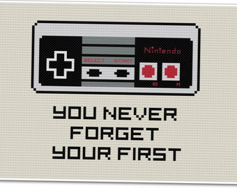 You Never Forget - Nintendo - PDF Cross-stitch Pattern - INSTANT DOWNLOAD