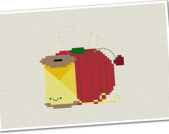 Kawaii Thread and Pincushion - PDF Cross-stitch Pattern - INSTANT DOWNLOAD