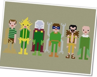 The Sinister Six - The *Original* Pixel People - PDF Cross-stitch Pattern - INSTANT DOWNLOAD