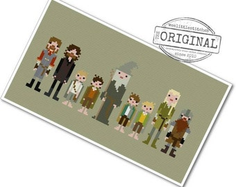 The Fellowship of the Ring - The *Original* Pixel People - PDF Cross Stitch Pattern - INSTANT DOWNLOAD