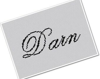 wee little swears - Darn - PDF Cross Stitch Pattern - INSTANT DOWNLOAD