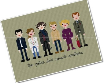 Sherlock - The *Original* Pixel People - PDF Cross-stitch PATTERN - Instant Download