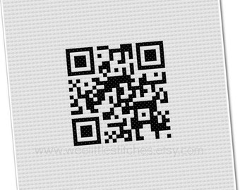 QR Code Cross-Stitch - PDF Pattern - instant download