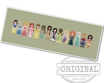 Storybook Princesses - The *Original* Pixel People - PDF Cross-stitch Pattern - INSTANT DOWNLOAD