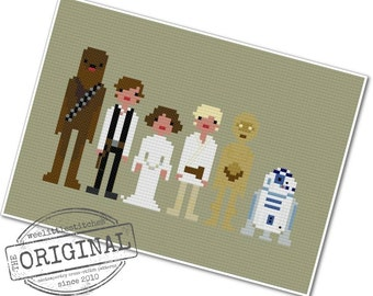Star Wars - A New Hope - The *Original* Pixel People - PDF Cross-stitch Pattern - INSTANT DOWNLOAD