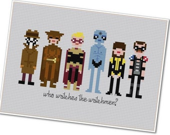 The Watchmen - The *Original* Pixel People - PDF Cross-stitch Pattern - INSTANT DOWNLOAD