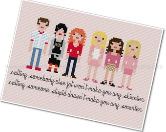 Mean Girls - The *Original* Pixel People - PDF Cross-stitch Pattern - INSTANT DOWNLOAD