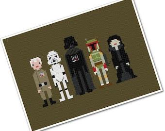 Star Wars - Enemies - The *Original* Pixel People - PDF Cross stitch Pattern - INSTANT DOWNLOAD