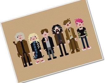 Harry's Friends 2 - The *Original* Pixel People - PDF Cross-stitch Pattern - INSTANT DOWNLOAD