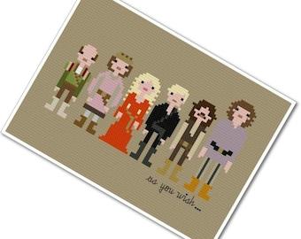 Pixel People - The Princess Bride - PDF Cross Stitch Pattern - INSTANT DOWNLOAD