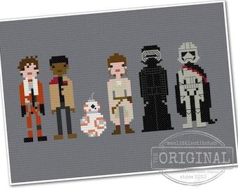 Star Wars - The Force Awakens - The *Original* Pixel People - PDF Cross-stitch Pattern - INSTANT DOWNLOAD