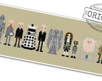Doctor Who - Villains, Monsters, & Aliens - The *Original* Pixel People - PDF Cross-stitch Pattern