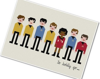 Pixel People - To Boldly Go - PDF Cross Stitch Pattern - INSTANT DOWNLOAD