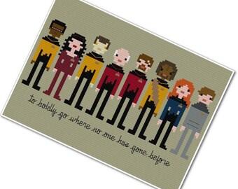 Star Trek - The Next Generation - The *Original* Pixel People - PDF Cross-stitch Pattern - INSTANT DOWNLOAD