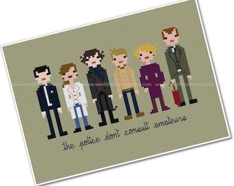 Sherlock - The *Original* Pixel People - PDF Cross-stitch PATTERN - Instant Download