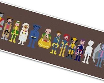 X-Men - The *Original* Pixel People - PDF Cross-stitch Pattern - INSTANT DOWNLOAD