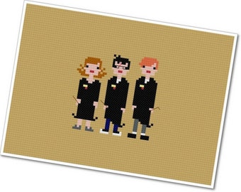 Harry, Ron, and Hermione - The *Original* Pixel People - PDF Cross-stitch Pattern - INSTANT DOWNLOAD