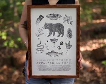 Appalachian Trail Field Guide Letterpress Print