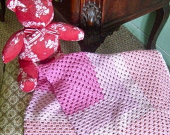 The Lena Baby Blanket - Heirloom Hand Crochet Child Cover
