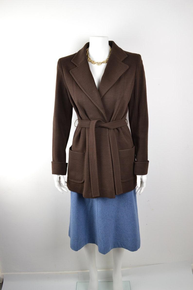 1970s jacket soft hip-length semi-structured wool coat Size image 0