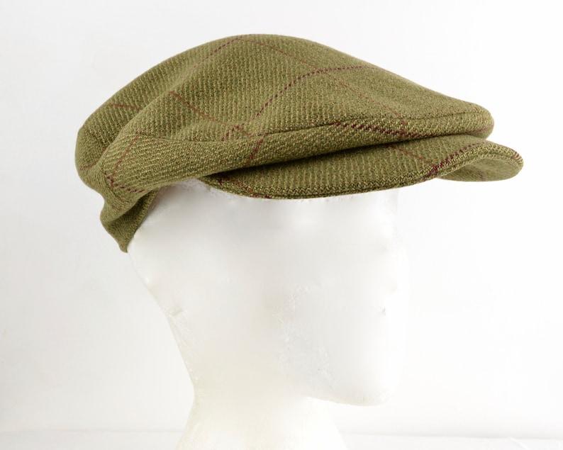 Cordings tweed peaked cap Size 7 57cm M-L  Green Saxony image 0