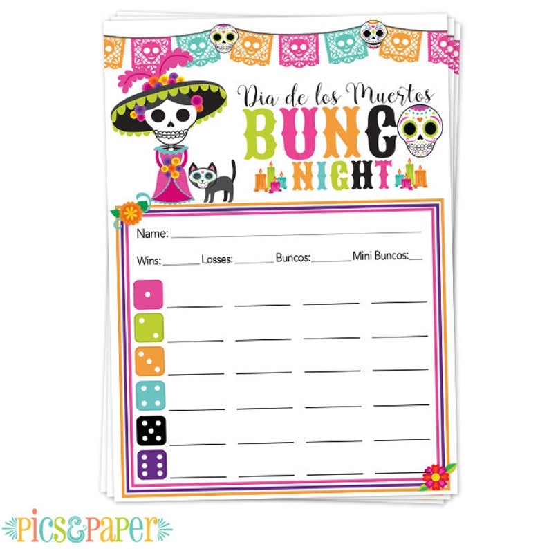 photograph relating to Printable Bunco Score Cards named Printable Bunco Ranking Card, Sheet Working day of the Lifeless, Dia de Los Muertos, Sugar Skulls, Katarina, Skeleton, Electronic Document Simply just