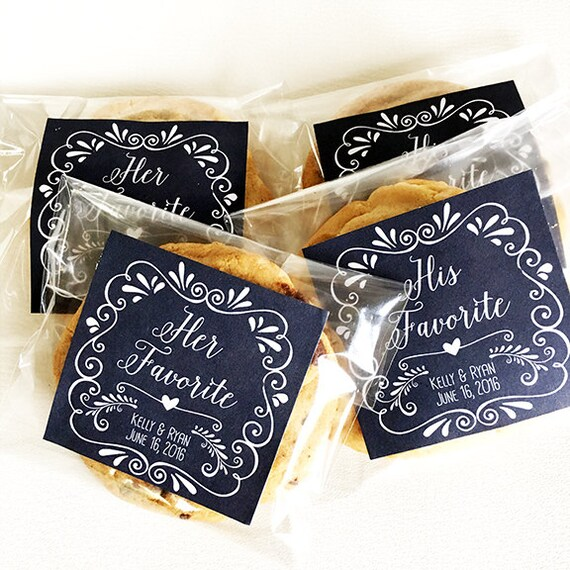 Personalized Wedding Favor Tags For Snack Bag Labels Cookie Etsy