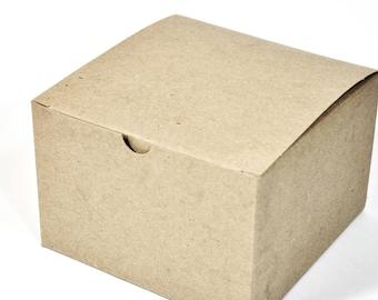 Kraft Gift Box (10) * 6x6x4 * gift wrap * packaging supplies * wedding * shower * Christmas * boxes