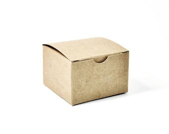 Kraft Gift Box (10) * 3 x 3 x 2 * gift wrap * packaging supplies * wedding * shower * Christmas * boxes