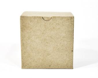 Kraft Gift Box (10) * 4x4x4 * gift wrap * packaging supplies * wedding * shower * Christmas * boxes