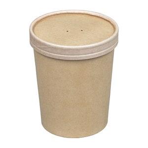 party supplies* paper goods disposables packaging picnics Kraft Soup Cups with Lids 10 * 16 oz