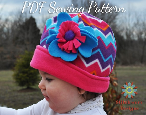 Fleece Hat Pattern PDF Sewing Pattern Womens Hat Pattern  f0aa3c40283